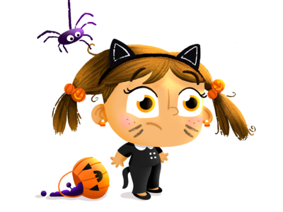 BOOp 🕷👀🐱🎃🔮👻✨ cartoon childrens illustration character design childrens book kid lit autumn fall october pumpkin illustration cute candy trick or treat halloween