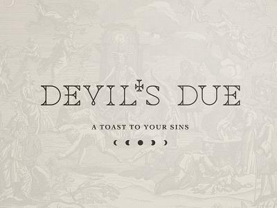 Devil's Due bitters alcohol logo devils due devil