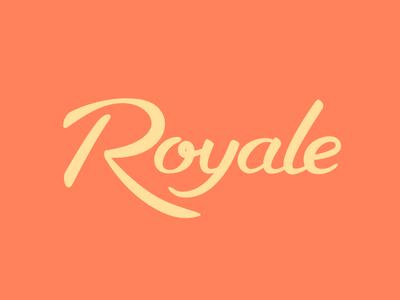 Royale script type brush lettering