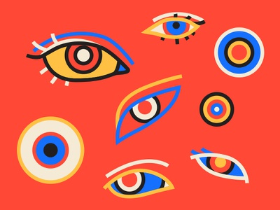 Waking Nightmare illustration war monoline lineart red nightmare eyes