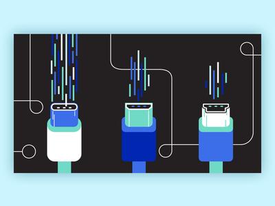 USB C 03 illustration technology wire cable usb c usb