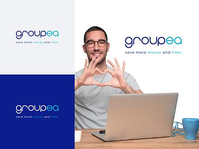 Groupea Logo typographic logotype logodesign branding design brand identity brand design logo typography art typogaphy logo design branding