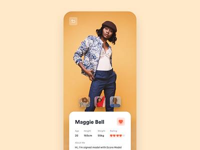 Model Profile app fashion fashion app model ios app design ui ios application ui desgin app concept ui  ux design design