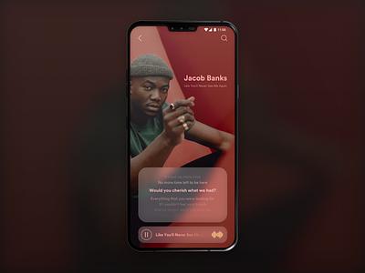 Music Player App ui ios design app ios app design app concept musician clean design singer music player music app music ui  ux design design ios application