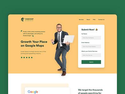 Landing Page agency website website branding landing page ui ui desgin ui  ux design design