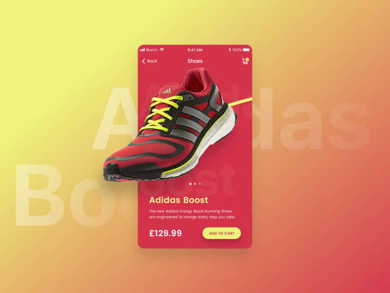 Shoe App Product Page
