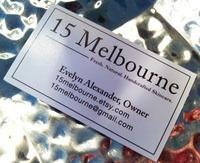 Logo & Business Card Design for 15 Melbourne. (Side 2)