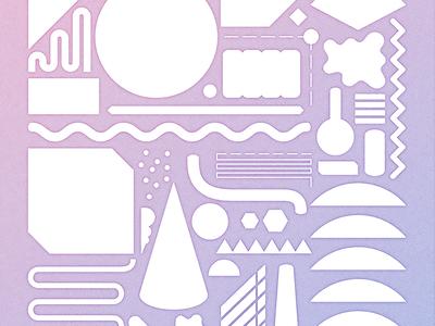 geometry_graphic pink geometry