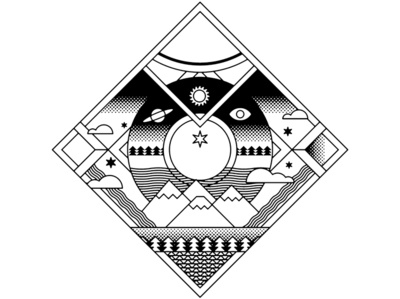 FUJI ROCK FESTIVAL18 illustration music festival japan geometry