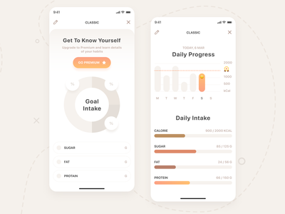 Keto App Design #2 product pro recipe mobile meat kitchen ios illustration graphics eat dish diet cuberto cooking chef book app