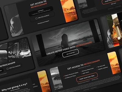 Subscription screens. Retro Cam App subscriptionapp edit filter ios mobile interface design ui subscription