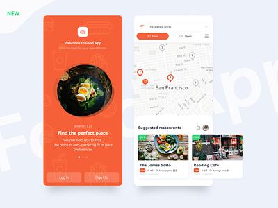 Food App UI/UX ux mobile ui profile product onboarding mobile ios interface food elements app design app