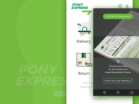 Home Screen and Operation Screen for Pony Express