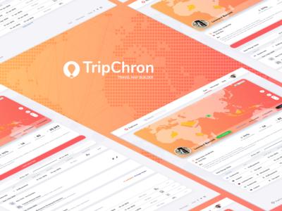 UI/UX for Travel Map Builder Web app