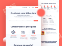 The platform of entrepreneurs   Landing page