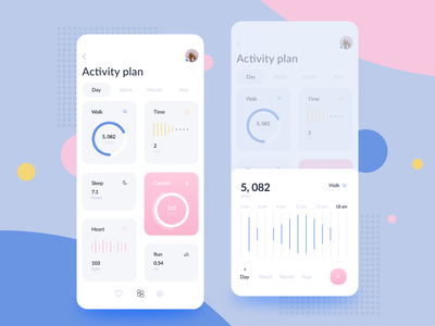 Activity Tracking Mobile App activity feed typography illustration interface ios web vector logo ux design dashboard elements app mobile activity tracking ui ice cream ui ice cream