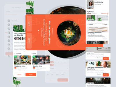 Welcome to Food App filters figma web mobile ios interface dashboard elements design ux app ui