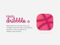 Hello dribbble (Daily ui #005)