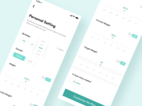 Fitness app personal setting - Daily ui 007