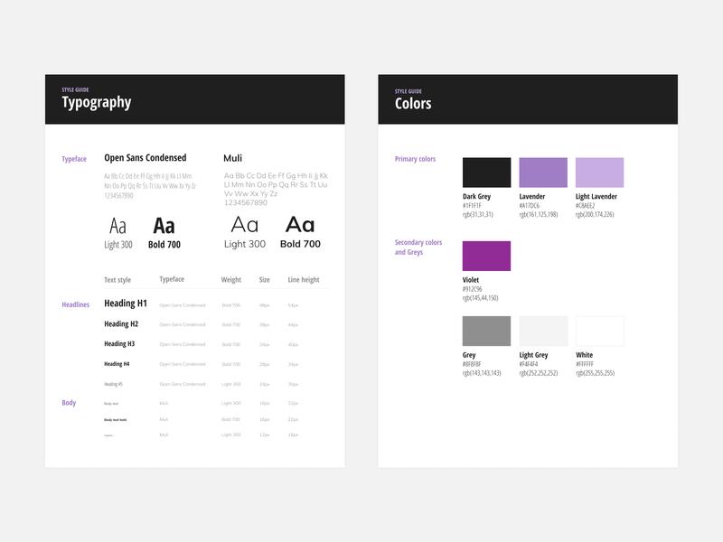 Style Guide rebranding branding visual design colors typogaphy style guide styleguide design visual ui design minimal flat ui