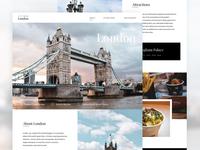 Explore London - Landing Page Concept
