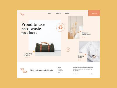 Zewa  - Zero Waste Movement websites web design website design website concept branding ux ui design