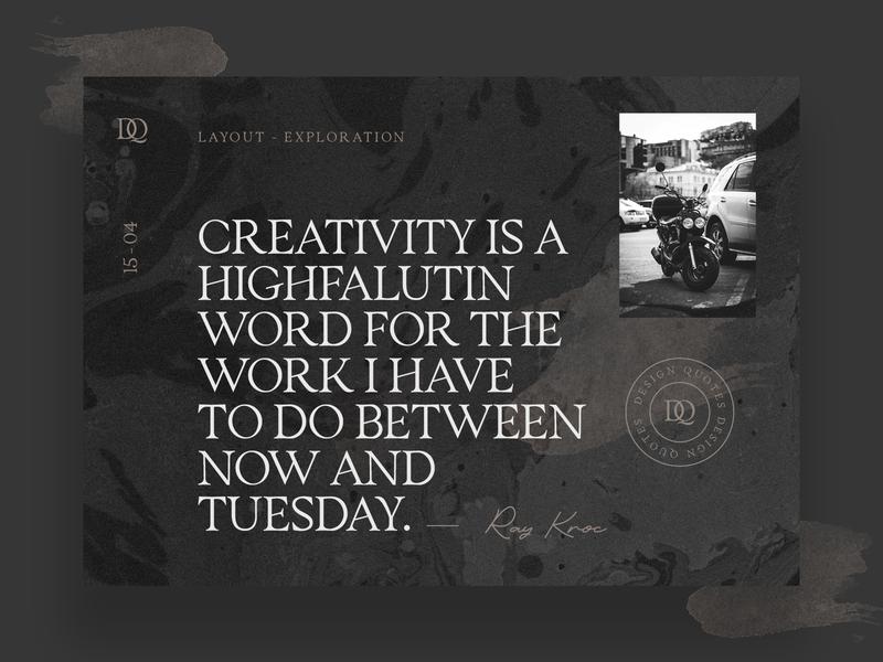 Design Quotes Layout Exploration web ux ui brand editorial design font collection font bundle display font font lettering branding typography design
