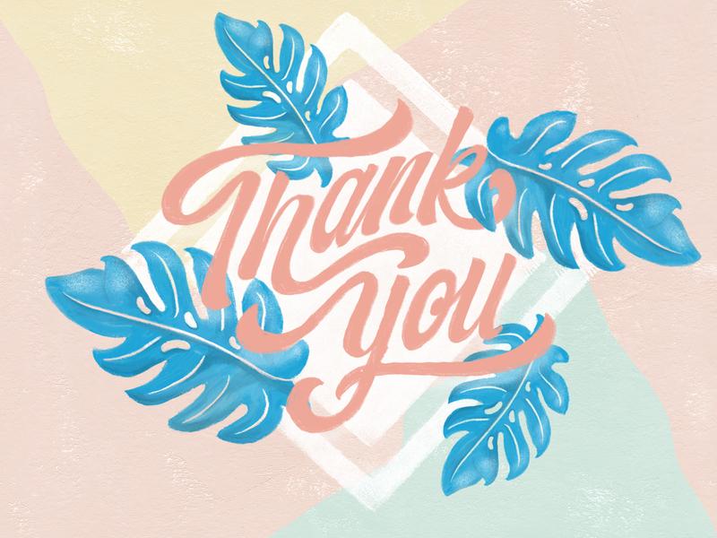 Thank you first shot branding typography lettering design illustration