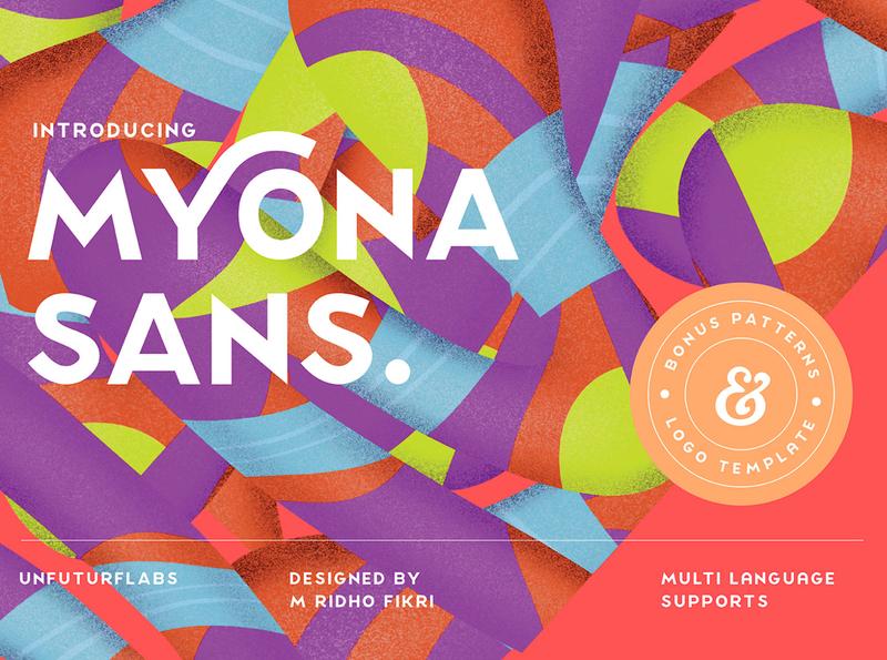 Myona Sans + Extra display font font awesome font bundle font collection font vector brand typography lettering illustration first shot branding design
