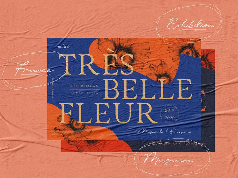 Très Belle Fleur graphic brand poster script editorial design illustration font collection font bundle display font font typography lettering branding design