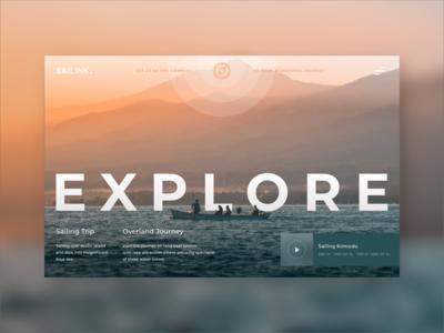 Daily UI #02 — Sailink Web Concept