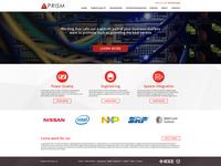 Prism Homepage Design