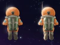 Orange Astronaut