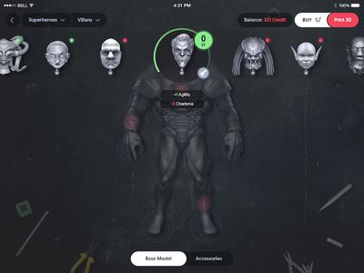 Action Figure Builder, choose head