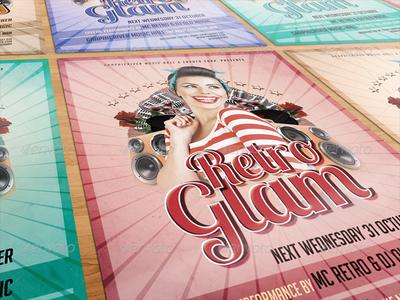 GraphicRiver - Retro Glam Party Flyer