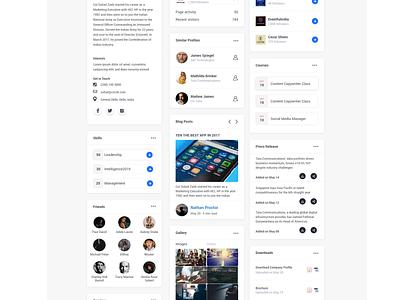 Social Media Widgets | 45 Widgets ui  ux cards socialmedia widgets