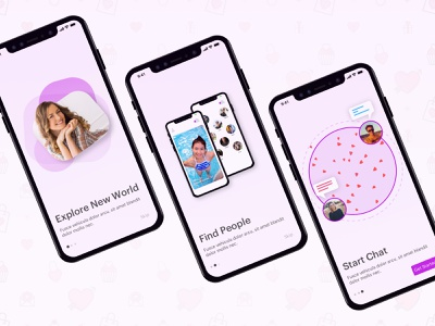 Dating App | Intro Screens datingapp dating intro screens