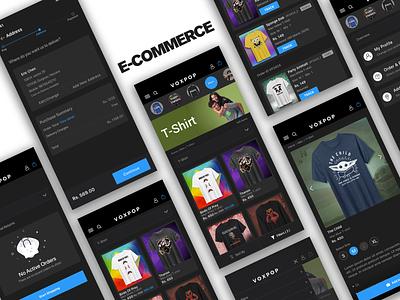 E-Commerce Mobile App (Eshop) ecommerce app shopping cart shopping app ecommerce profile colors login animation ios app ui user interface user experience design