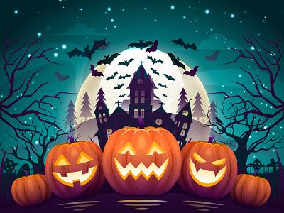Happy Scary Halloween gangbeetle ui design halloween bash halloween party halloween