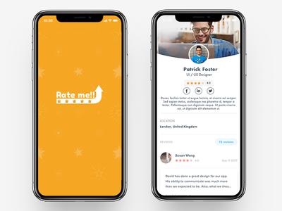 Rateme App Concept : Rating App