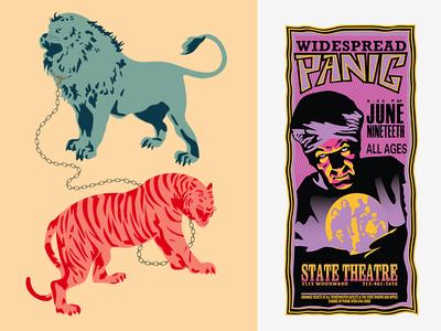 Animals + Poster Using Illustrator