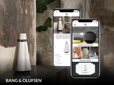 Daily UI #004 - BANG & OLUFSEN ecommence user experience product design ux design uidesign app concept bang  olufsen electronic music google assistant music product catalog product