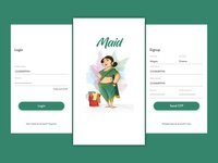Daily UI #005 - Maid App Concept