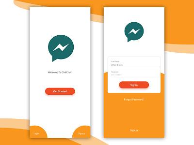 Daily UI #008 -Splash & Login ux ios ui colors iphonex login user interface app user experience design chat register signup sign in forgot password splash log in