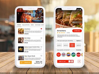 Daily UI #010 - Food App Menu user interface ios app ui user experience design order food add to cart food menu food and drink delivery app restaurant resturant food app