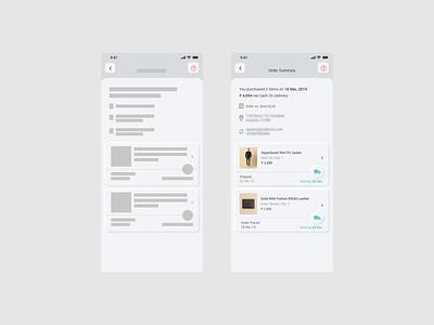 Neomorphism Design - Order List branding order summary order management