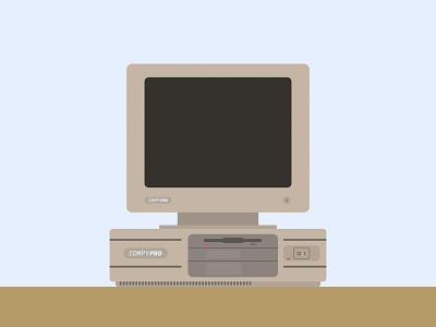 COMPY PRO! computer pc compaq compaq 386 retro