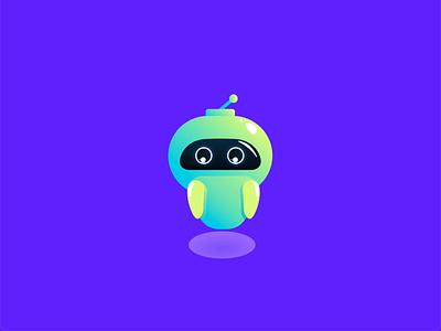 Chatbot greets minimal cute smile character animation hello robot chatbot bot interaction illustration uiux
