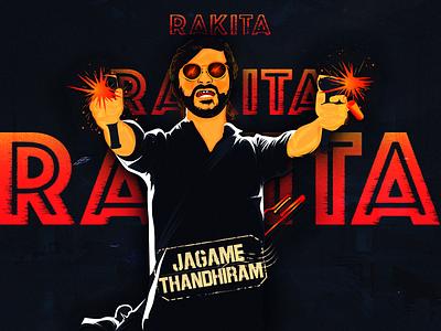 Jagame Thanthiram (Rakita Rakita Rakita) design adobe ai crime tamil netflix vector dhanush illustration