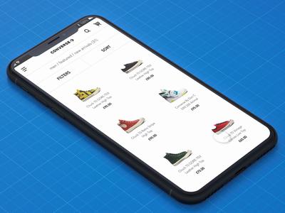 Converse Shoes App Interaction